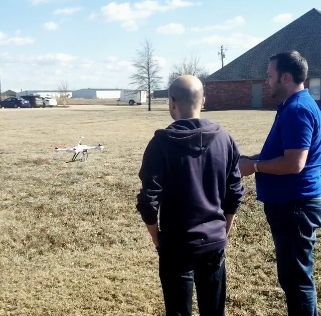 Cory & Gerroald with a Quadcopter
