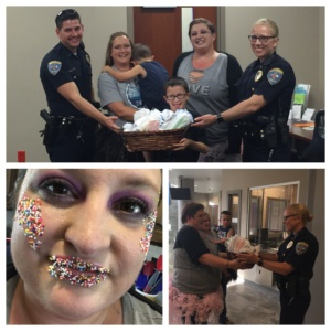 Candy Fairies Delivering Ice Cream to the Edmond PD - GISHWHES
